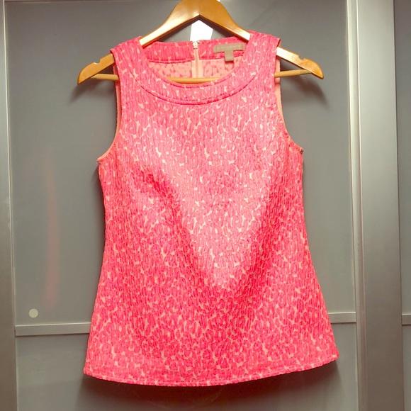 Banana Republic Tops - Neon pink leopard Banana Republic shirt